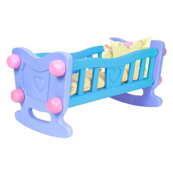 """Іграшка """"Колиска для ляльки ТехноК"""" 58 х 27 х 27 см з постіллю"""
